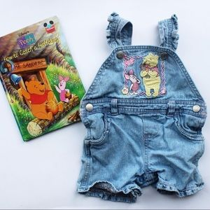 Disney Pooh and Piglet 0/3m shortalls